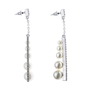 Bijuterii Alloy pair earrings with pearl cult.