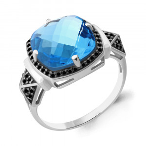 925 Sterling Silver women's rings with nano crystal and