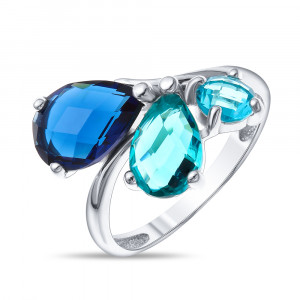 925 Sterling Silver women's rings with jewelry glass