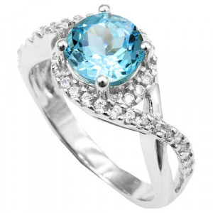 925 Sterling Silver women's ring with cubic zirconia