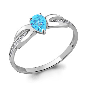 925 Sterling Silver women's rings with glass and cubic zirconia