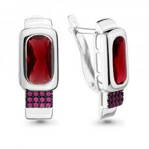925 Sterling Silver pair earrings with nano-tourmaline and nano crystal