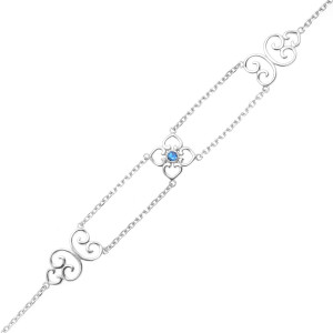 925 Sterling Silver bracelets with synthetic spinel