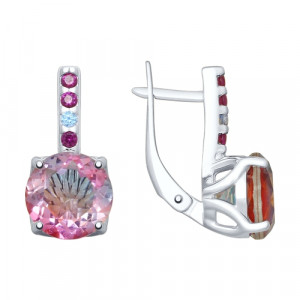 925 Sterling Silver pair earrings with sitall and