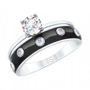 925 Sterling Silver women's rings with rhinestone and cubic zirconia