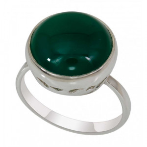 925 Sterling Silver women's rings with jade