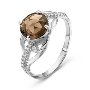 925 Sterling Silver women's ring with nano grenades and cubic zirconia