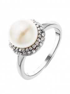 Bijuterii Alloy women's ring with pearl imit.