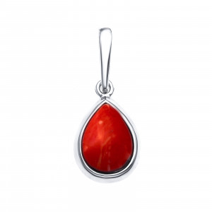 925 Sterling Silver pendants with coral and synthetic coral
