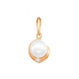 925 Sterling Silver pendants with pearl imit.