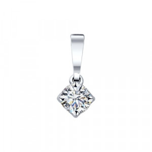 925 Sterling Silver pendants with cubic zirconia swarovski and swarovski