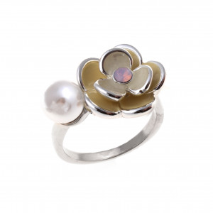 Bijuterii Alloy women's ring with enamel