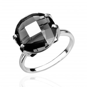 925 Sterling Silver women's rings with prasiolite