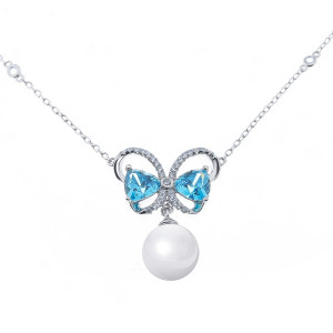 925 Sterling Silver necklaces with mallorca and cubic zirconia