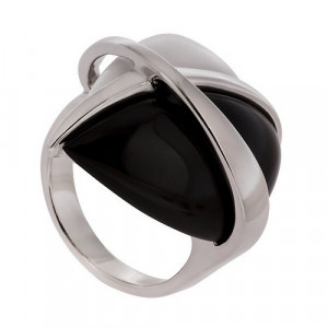 925 Sterling Silver women's ring with agate