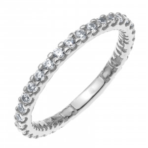 925 Sterling Silver protecting rings with fi and