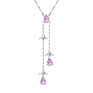 925 Sterling Silver necklaces with amethyst