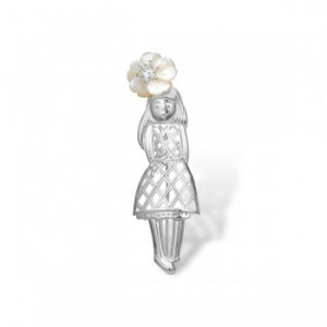 925 Sterling Silver brooches with mother of pearl