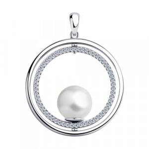 925 Sterling Silver pendants with pearl and