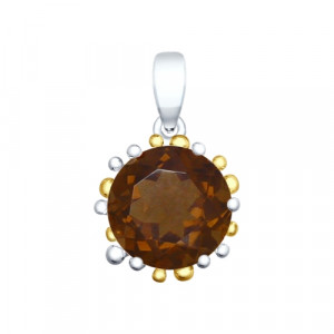 925 Sterling Silver pendants with rauchtopaz