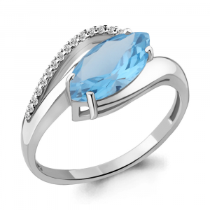 925 Sterling Silver women's rings with nano topaz and