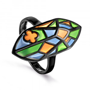 women's rings with ceramics and enamel