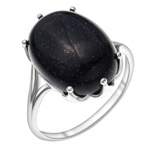 925 Sterling Silver women's rings with aventurine