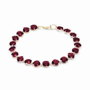 925 Sterling Silver bracelets with jewelry glass