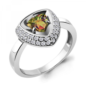 925 Sterling Silver women's rings with sultanic and cubic zirconia