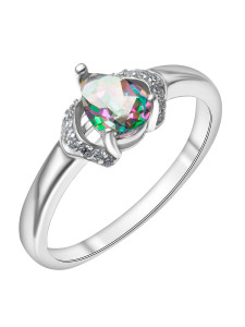 925 Sterling Silver women's rings with mystic quartz