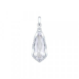 925 Sterling Silver pendants with cubic zirconia and rhinestone