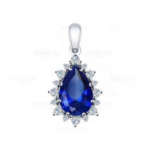 925 Sterling Silver pendants with corundum and sapphire