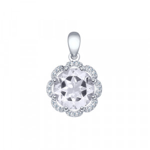 925 Sterling Silver pendants with rauchtopaz and cubic zirconia