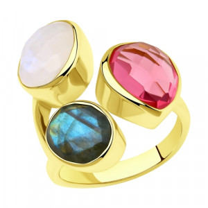 925 Sterling Silver women's rings with fluorite and tourmaline