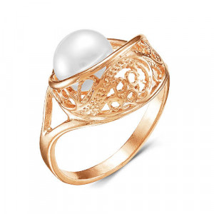 925 Sterling Silver women's rings with pearl and pearl cult.