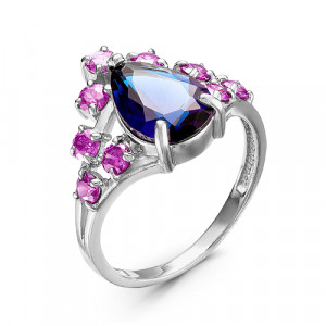 925 Sterling Silver women's rings with quartz mix