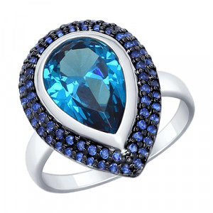 925 Sterling Silver women's rings with nano sitall and sitall
