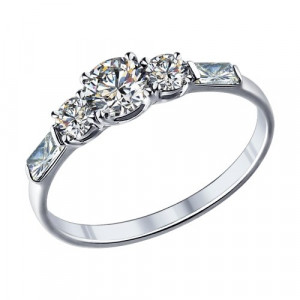 925 Sterling Silver women's rings with swarovski and cubic zirconia swarovski