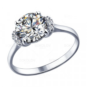 925 Sterling Silver women's rings with cubic zirconia swarovski and swarovski