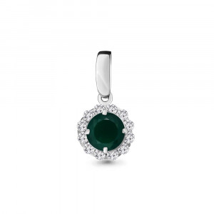 925 Sterling Silver pendants with green agate