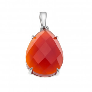 925 Sterling Silver pendants with red agate