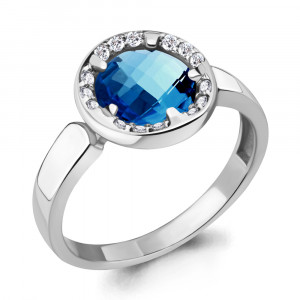 925 Sterling Silver women's rings with nano london topaz