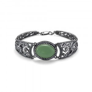 925 Sterling Silver bracelets with  and jade