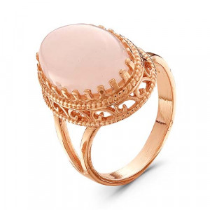 925 Sterling Silver women's rings with pink quartz