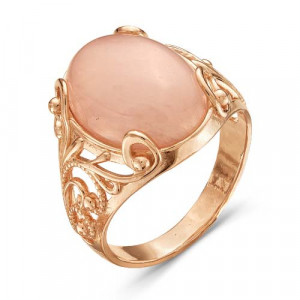 925 Sterling Silver women's rings with synthetic quartz and pink quartz