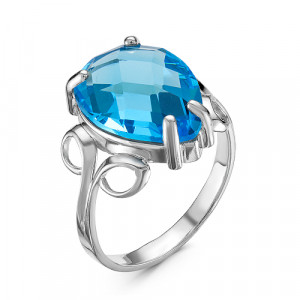 925 Sterling Silver women's rings with topaz and quartz