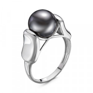 925 Sterling Silver women's rings with pearl imit.