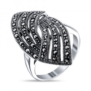925 Sterling Silver women's rings with marcasite