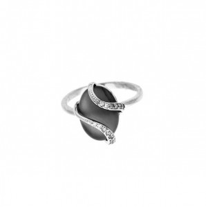 925 Sterling Silver women's rings with blackonyx and chrysoprase
