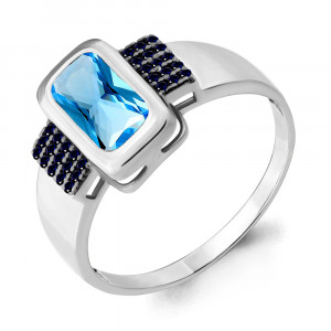 925 Sterling Silver women's rings with  and nano sapphire
